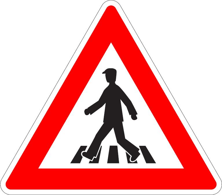Priechod pre chodcov (vľavo)