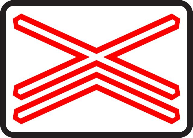 Výstražný kríž pre železničné priecestie viackoľajové