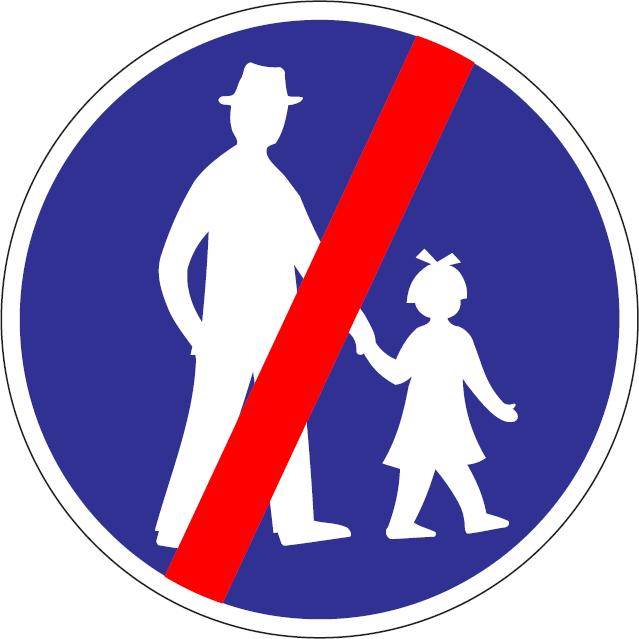 Koniec cestičky pre chodcov