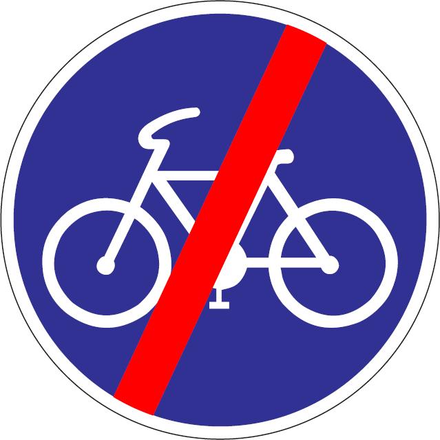 Koniec cestičky pre cyklistov