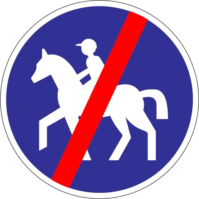 Koniec cestičky pre jazdcov na koňoch