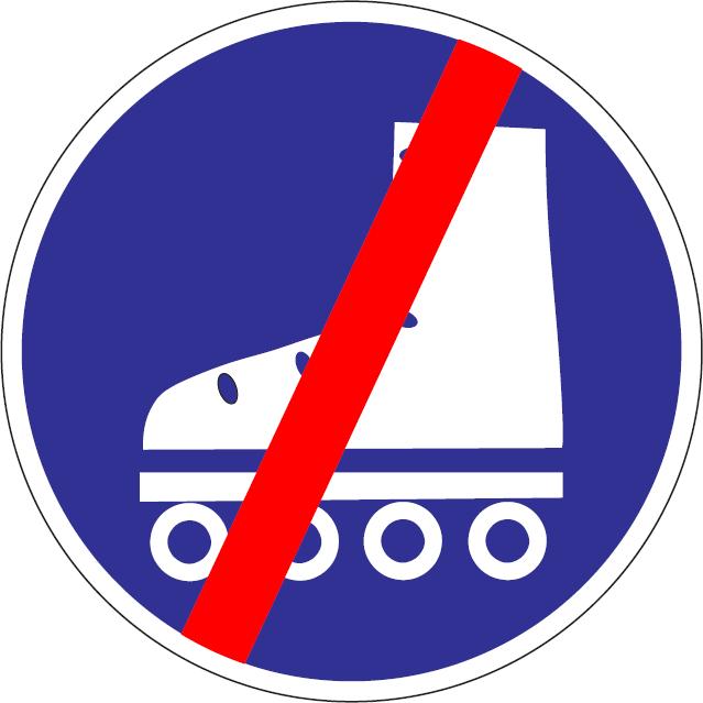 Koniec cestičky pre korčuliarov