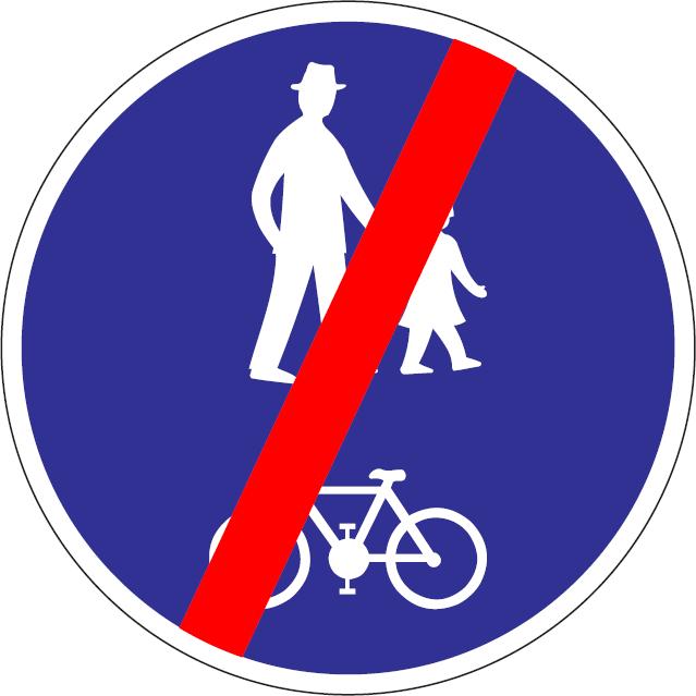 Koniec cestičky pre vyznačených užívateľov (vzor)
