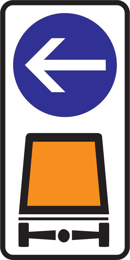 Prikázaný smer prepravy vyznačených vozidiel a vecí (vzor)