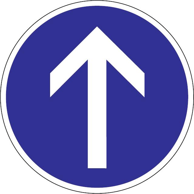Prikázaný smer jazdy priamo