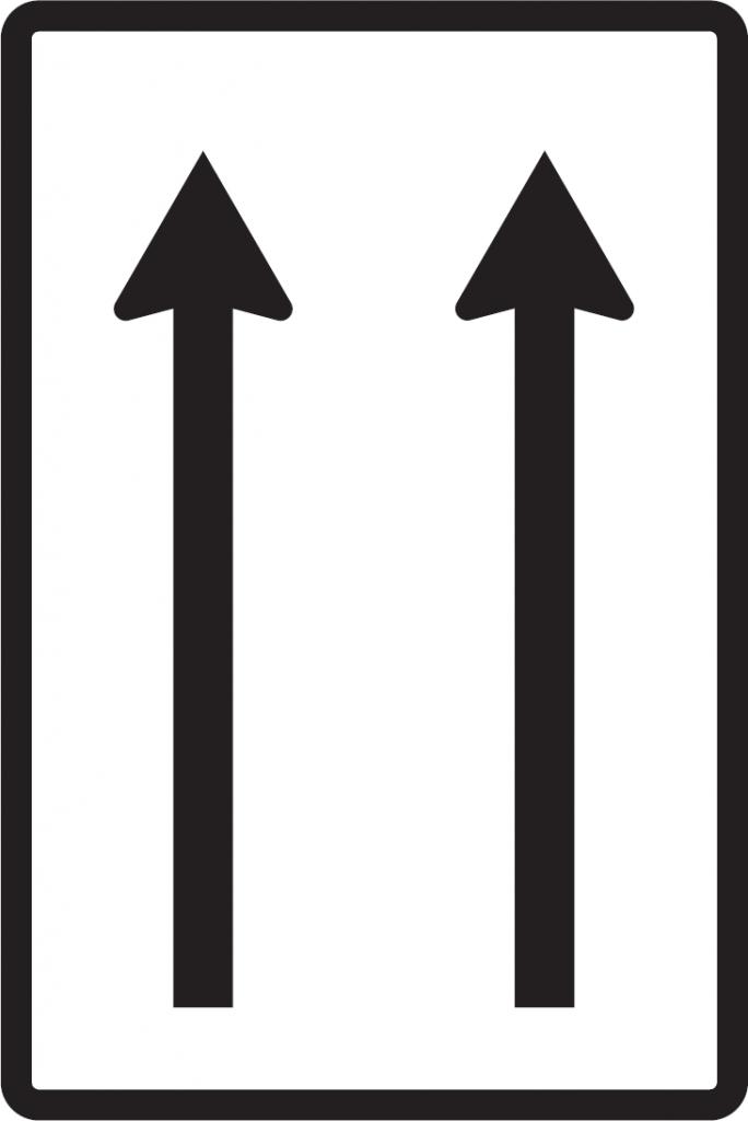 Usporiadanie jazdných pruhov (jednosmerná premávka)