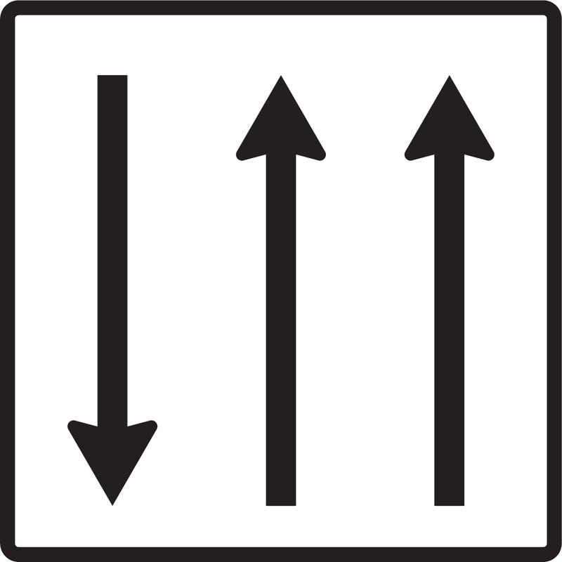 Usporiadanie jazdných pruhov (protismerná premávka)