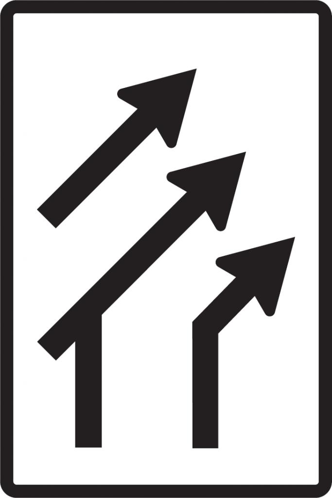 Usporiadanie jazdných pruhov (pripojenie s pripájacím pruhom)