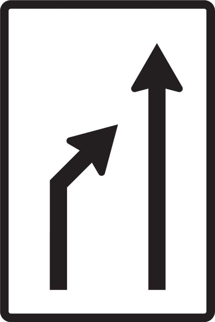 Zníženie počtu jazdných pruhov (vzor)