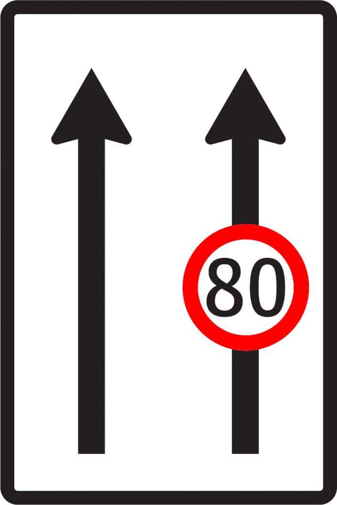 Obmedzenie v jazdných pruhoch (vzor)
