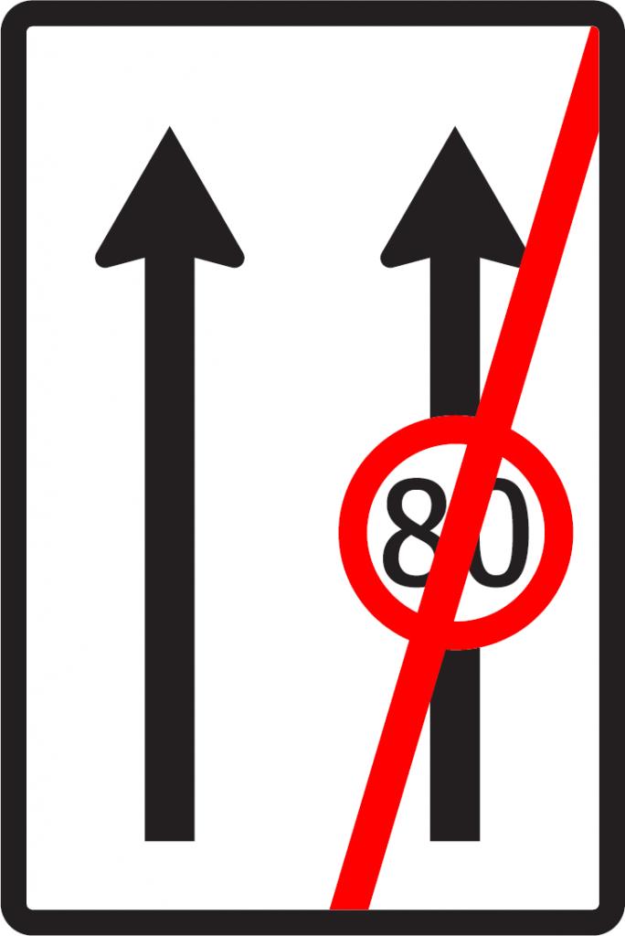 Koniec obmedzenia v jazdných pruhoch (vzor)