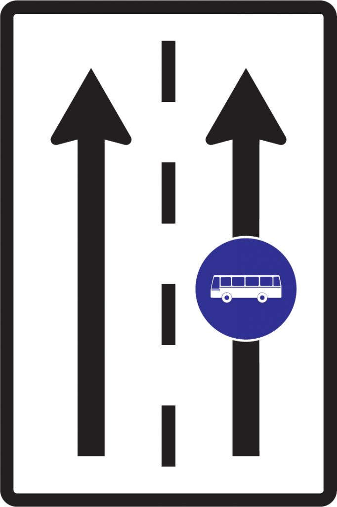 Vyhradený jazdný pruh (vzor)