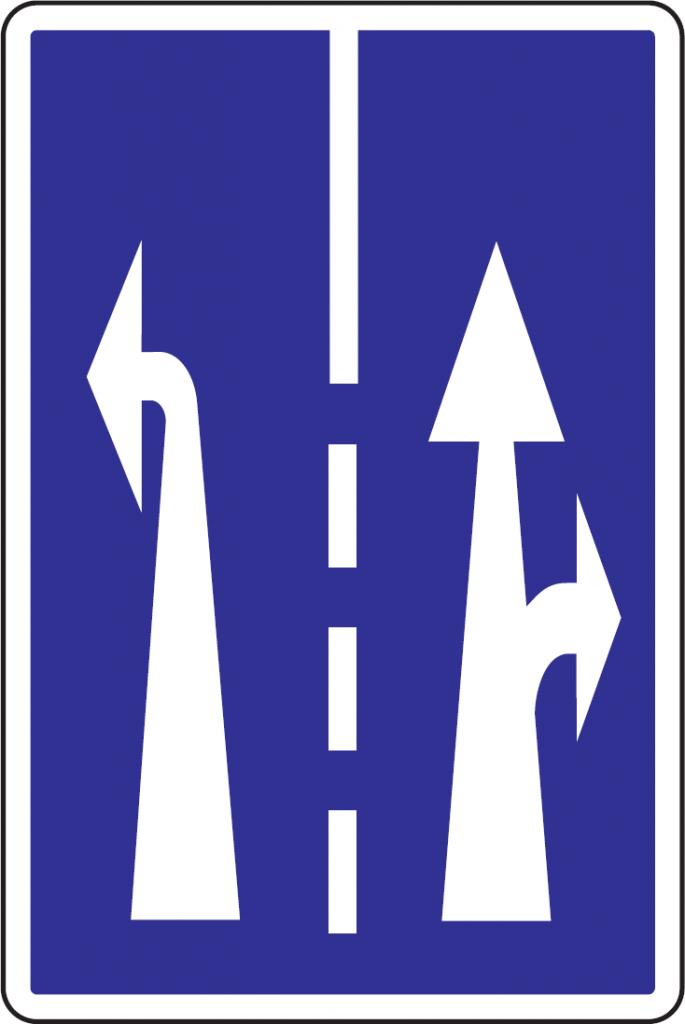 Radenie jazdných pruhov pred križovatkou (vzor)