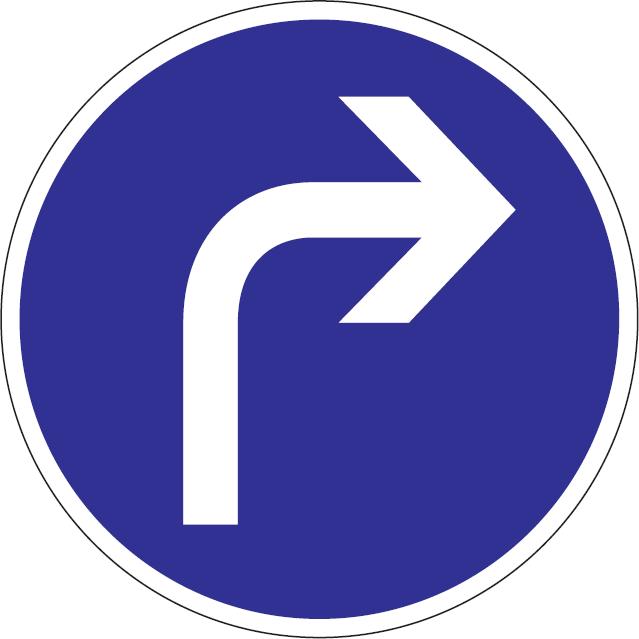 Prikázaný smer jazdy vpravo