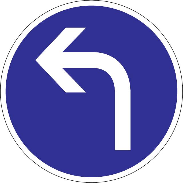 Prikázaný smer jazdy vľavo
