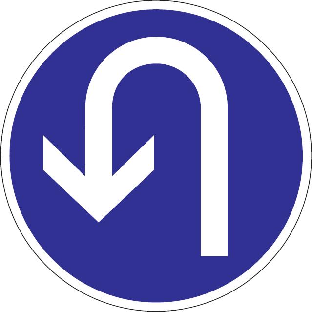 Prikázaný smer jazdy otáčania
