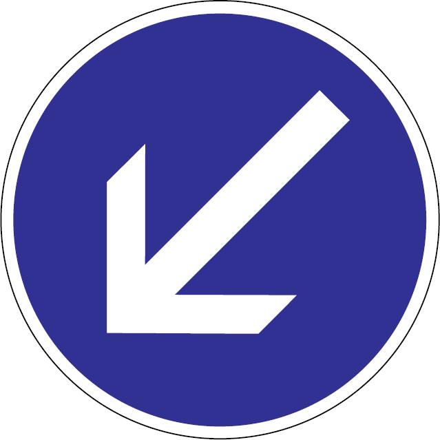 Prikázaný smer jazdy obchádzania vľavo