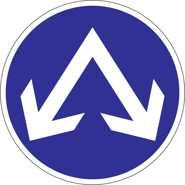 Prikázaný smer jazdy obchádzania vpravo a vľavo
