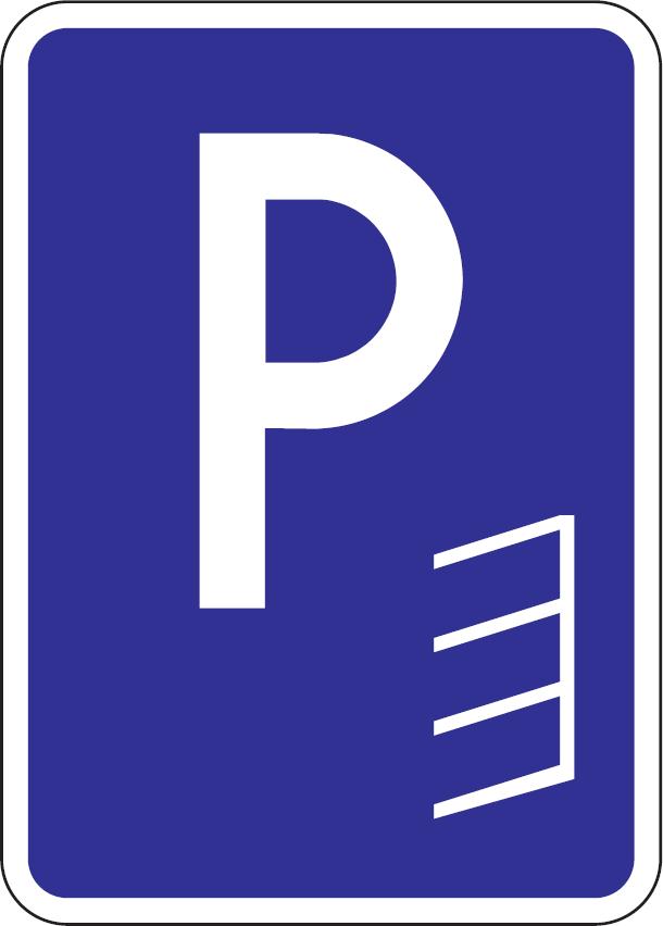 Parkovisko, parkovacie miesta so šikmým státím