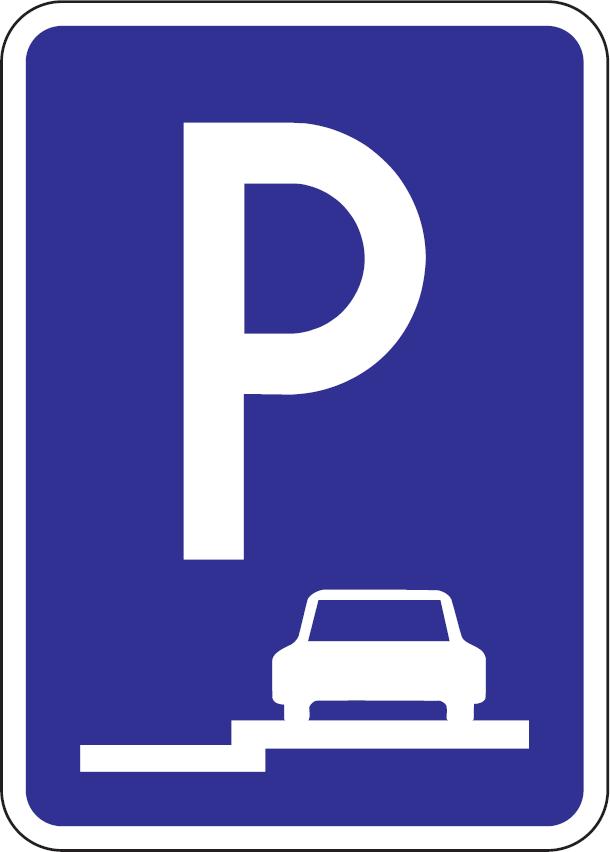 Parkovisko, parkovacie miesta s pozdĺžnym státím na chodníku