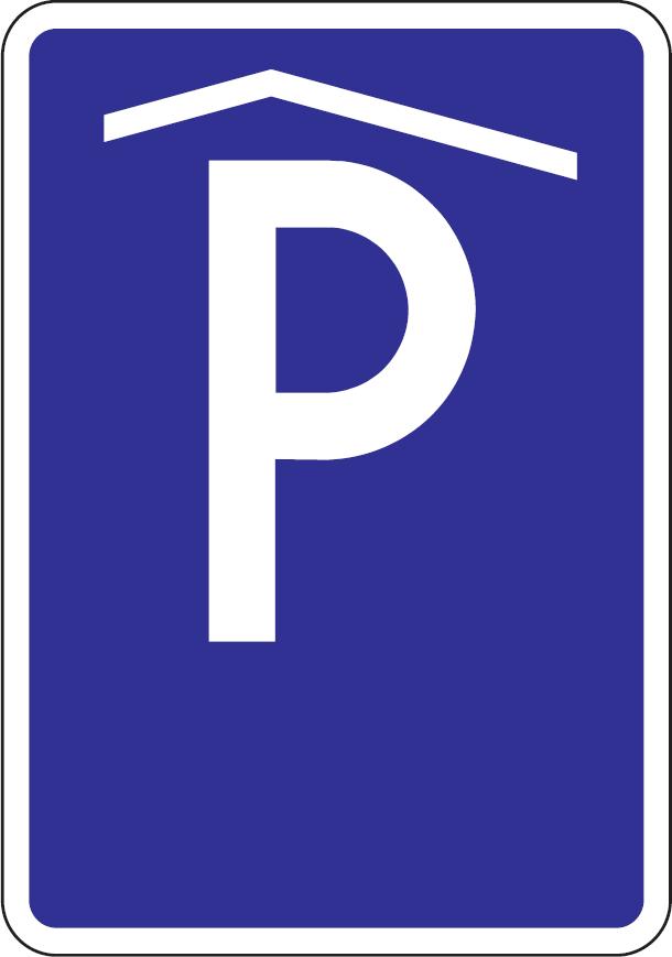 Kryté parkovisko, parkovacia garáž alebo parkovací dom (vzor)