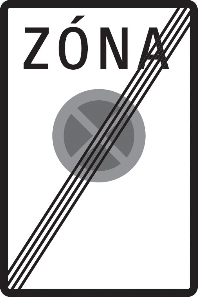 Koniec zóny s dopravným obmedzením (vzor)