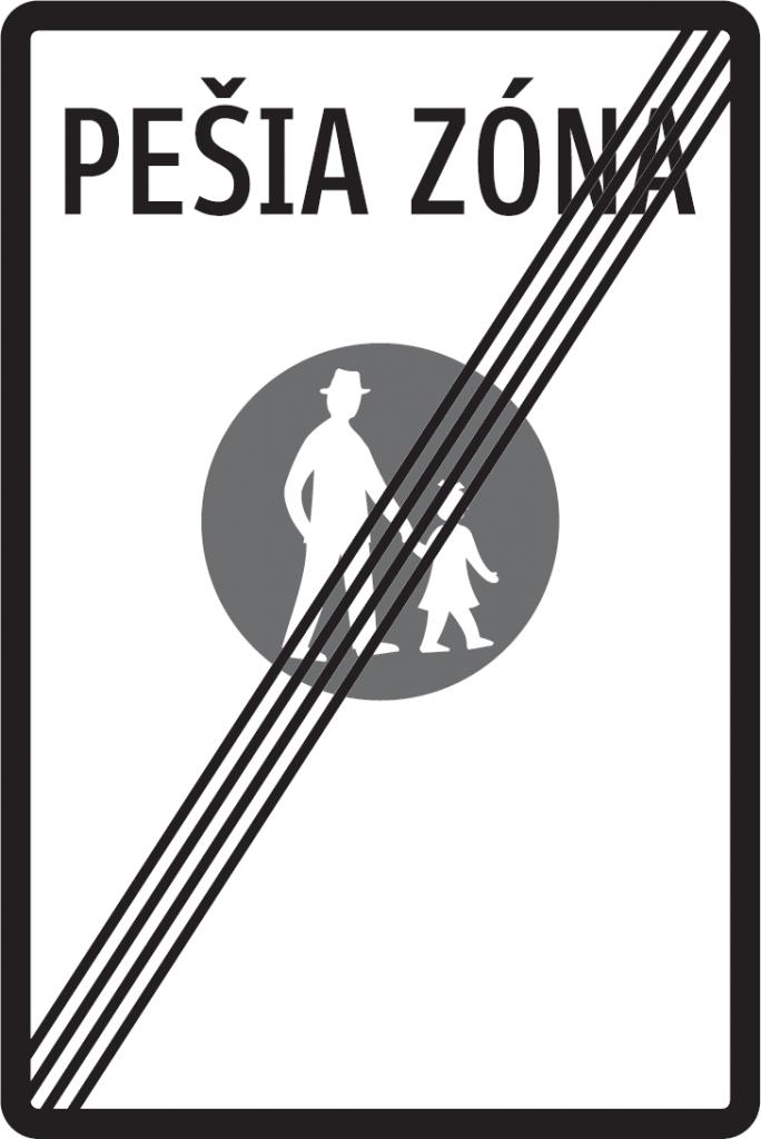 Koniec pešej zóny (vzor)