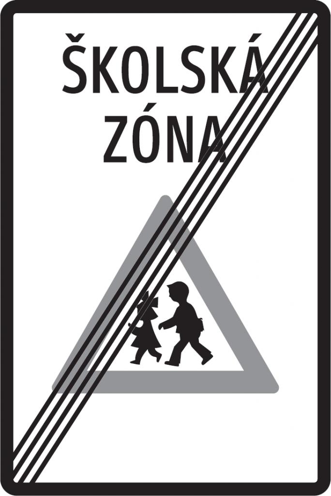 Koniec školskej zóny (vzor)