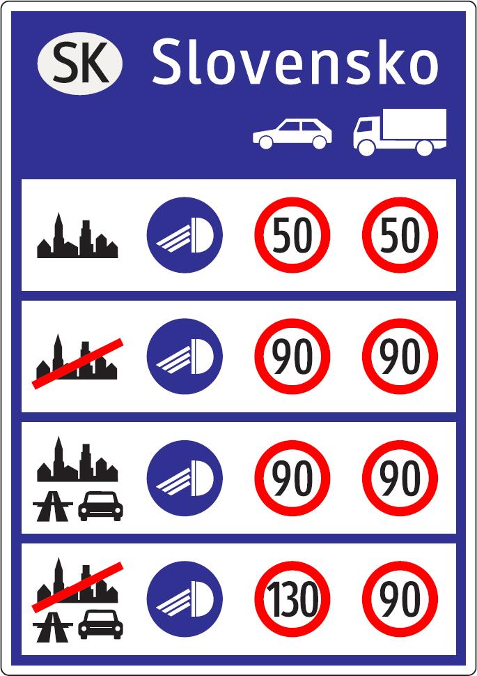 Všeobecné informácie o dopravných obmedzeniach (vzor)