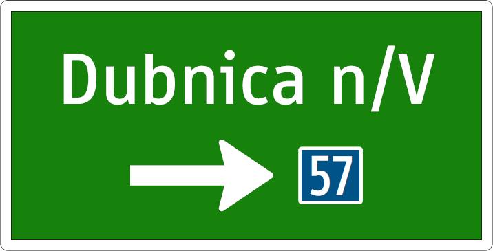 Smerová tabuľa (s číslom cesty)