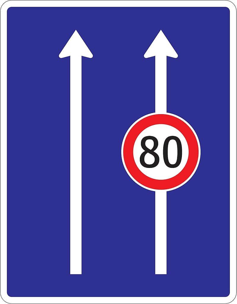 obmedzenie v jazdných pruhoch