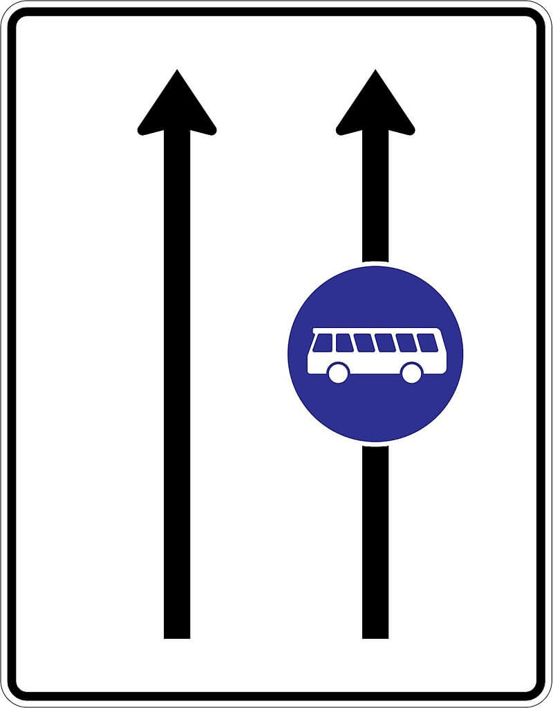 vyhradený jazdný pruh
